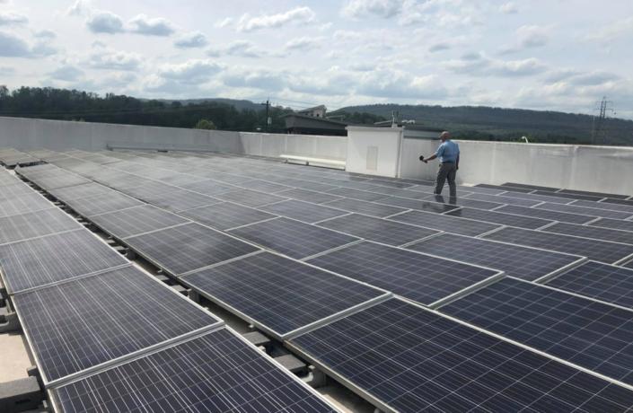 Industrial solar rooftop in Atlanta