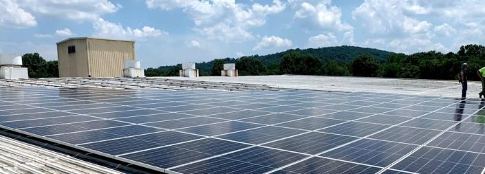 Commercial solar rooftop in Nashville