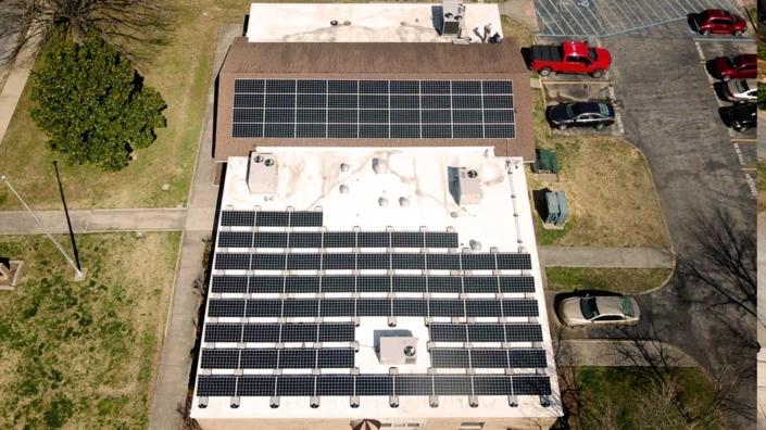 Industrial solar rooftop in Memphis