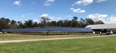 Agricultural solar installation in Atlanta