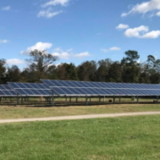 Ground mounted solar power installation in Atlanta