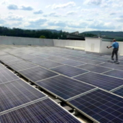 Completed installation of a solar rooftop in Memphis