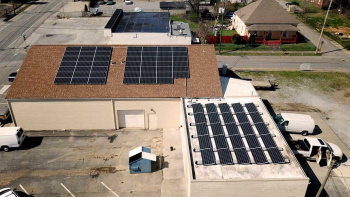 Installation of commercial solar power in Chattanooga