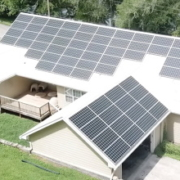 Installation of a home's solar panels in Chattanooga