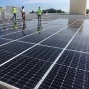 Solar rooftop installation in Atlanta