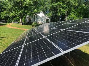 A solar panel installation in Birmingham