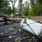 Storm damage requiring industrial electrical repairs in Greensboro